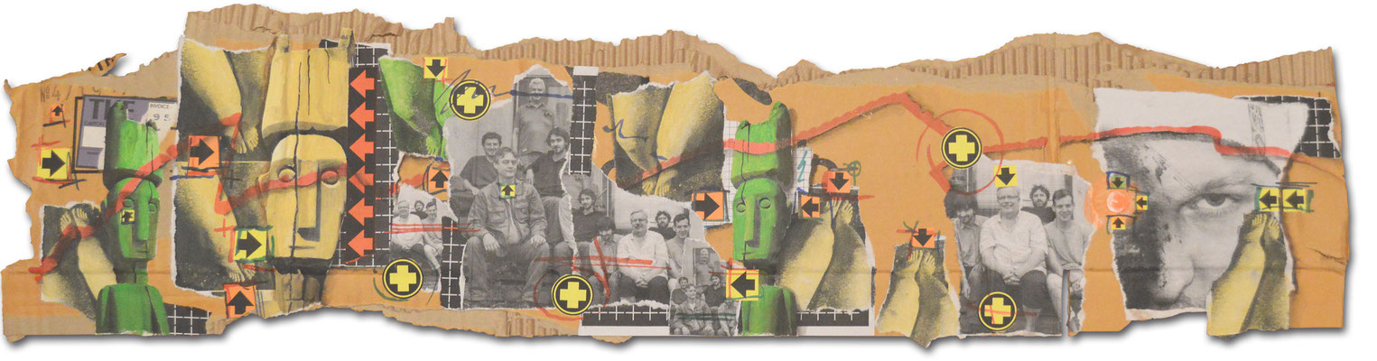 Art.103: Sounds and Noises, Nov. 2015, 23 x 90 cm, mixed media on corrugated cardboard