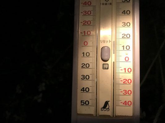 気温マイナス0.5度を指しています