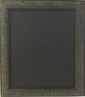 Bruno Eyron Black Mona (proof) 2017 Stempel über Acryl auf Leinwand 40x50 cm