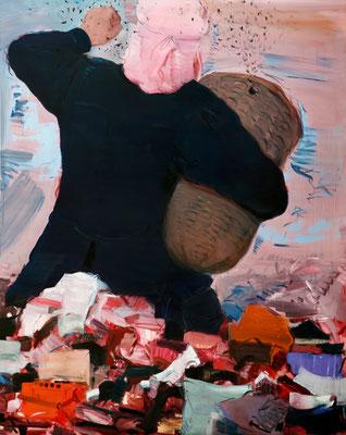 """""""Der Imker"""" 2014-15 Öl auf Leinwand 200x160 cm"""