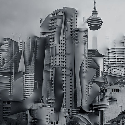 airborne, Kuala Lumpur 2017 80 x 80