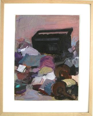 Überreste (Radio) 2013 Acryl auf Papier 50x36 cm