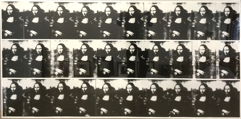 Andy Warhol Thirthy are better than One, Drei 10-teilige Leporellos,Siebdruck in Plexiglas Box, 50/150, 100x208 cm