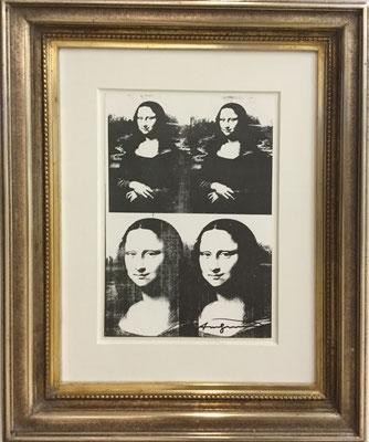 Andy Warhol Mona Lisa 1970 Bleiletterdruck auf Bütten 200, 28,6x19,2 cm