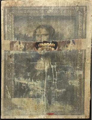 Petestreet Mona 2016 Mischtechnik auf Pappe 91x65 cm