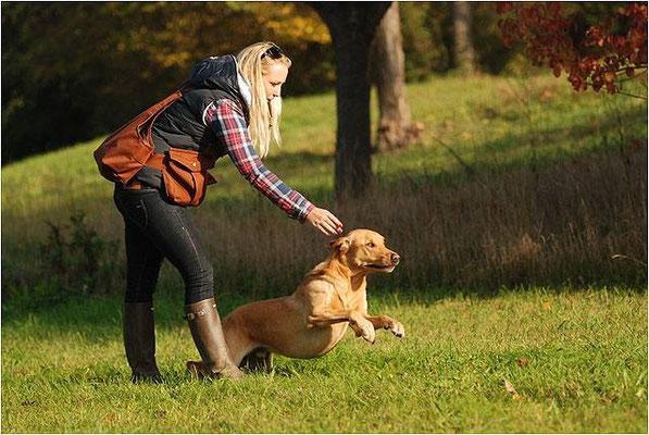 Age Birchgrove mit Kathrin Karner beim Training