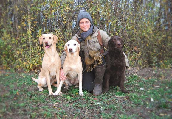 Lisi Schröder mit Berry, Kate und Amie
