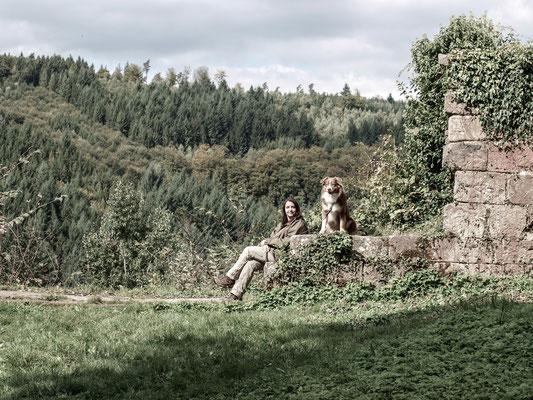 Doris und Syd auf der Wildenburg/Odenwald