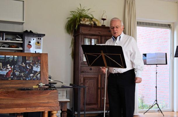 Hans zingt liederen van Dowland