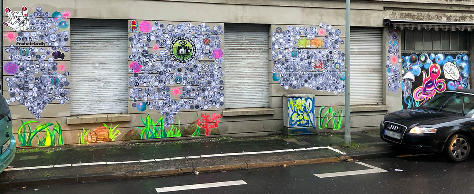 #nohatefamily . wall of love . Opladen
