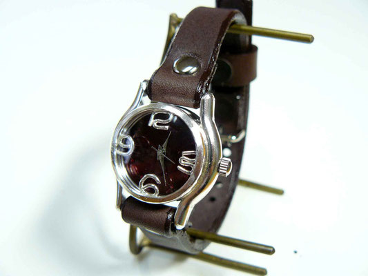 """305BSV """"Lady on Time-S"""" カラーダイアル RD/BR ¥20,000(消費税別)"""