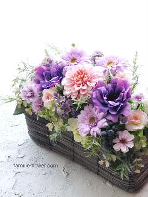 紫の花の造花アレンジメント af-83