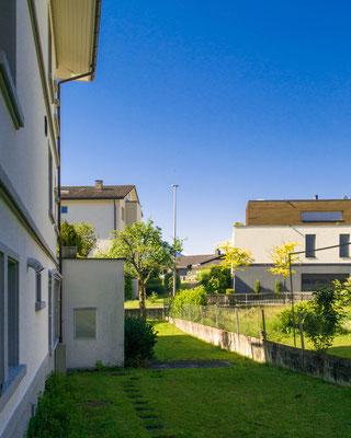 Garten hinter Haus 1 - Therapiezentrum Meggen