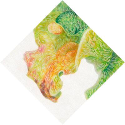 """"""" a perfumed bath -corona#03""""  H150×W150mm  2007"""