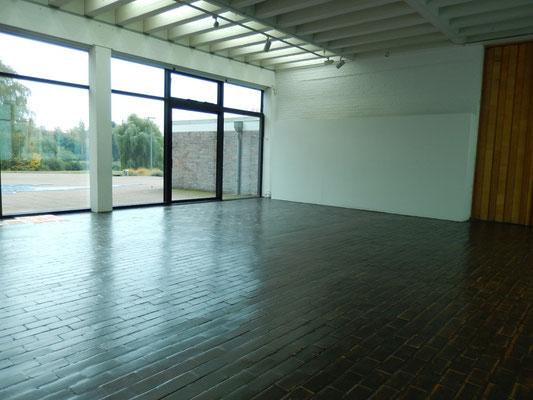 ロストック市立美術館 制作スペース, 始めは何もありません。Work Space in Kunsthalle Rostock,  -At first, there is nothing.