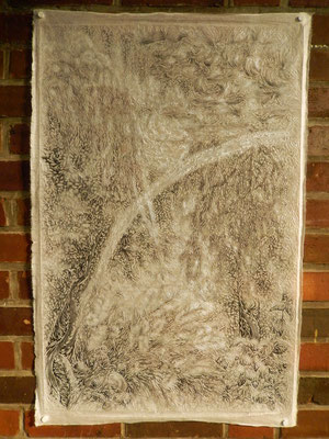 滞在中に制作した作品。ロストックの光と自然と植物のイメージ。