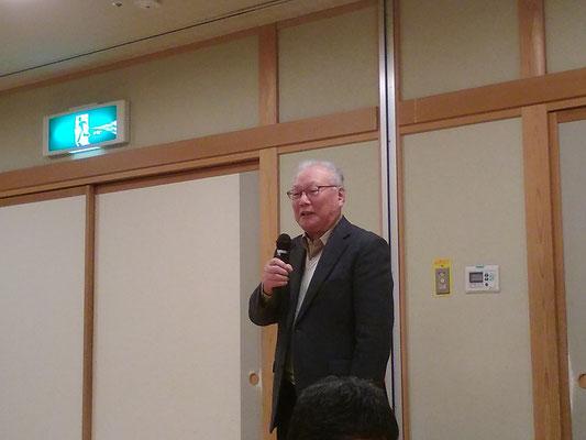 祝辞・ 県支部連合会副会長 金子直市先生。