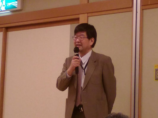 祝辞・長野県支部連合会会長 湯浅正樹先生。