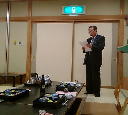 開会の言葉は下田義雄先生。 まじめな人柄が感じられるご挨拶でした。