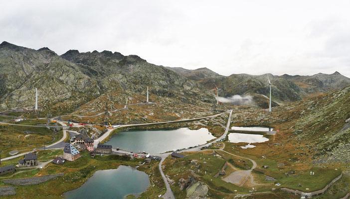 Auf dem Gotthard entstehen 5 Windräder, die so gross sind wie diejenigen in der Nordsee