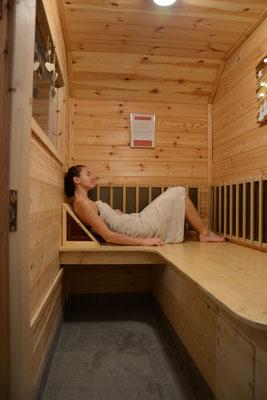 En solo dans le sauna du gîte de montagne Le Maréva**** - Le Dévoluy - Hautes-ALpes