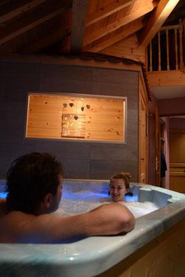 Sauna et spa du gîte de montagne Le Maréva**** - Le Dévoluy - Hautes-ALpes