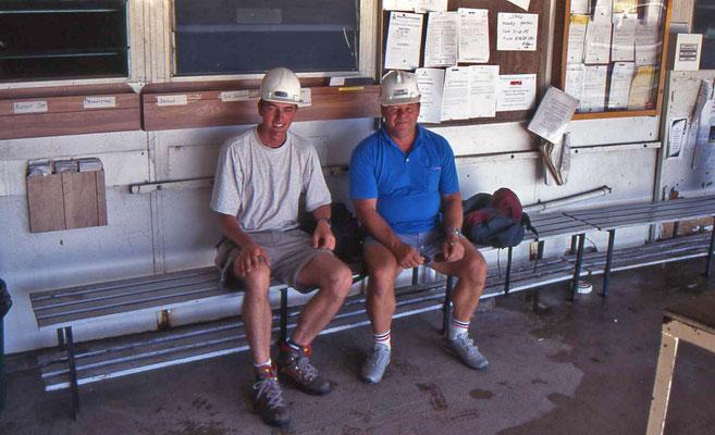 Martin en Uncle Hank in de mijn