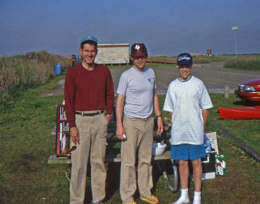 Bob, Roy en Lyam, medekampeerders