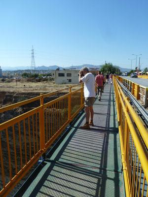 Ruud op brug over kanaal van Korinthe