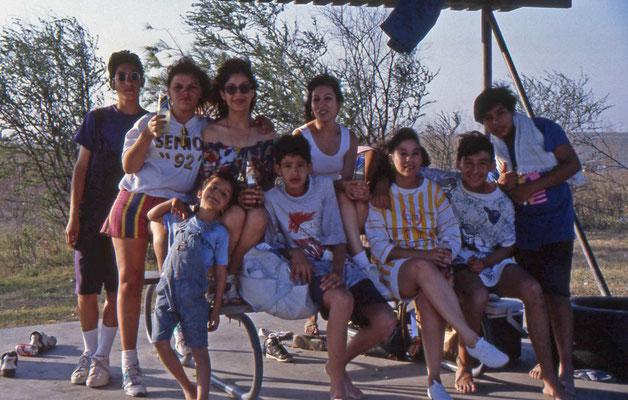 Zeer vriendelijke Texaanse- Mexicaanse familie in Falcon State Park