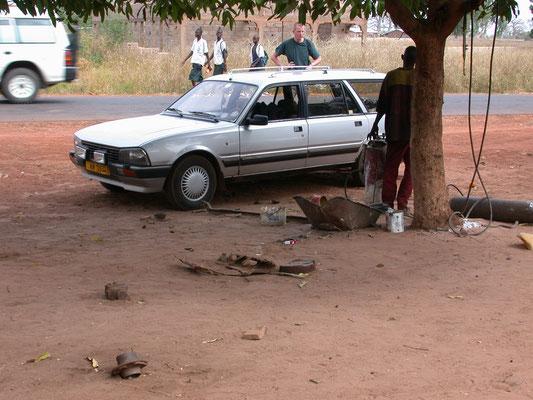 Auto in reparatie