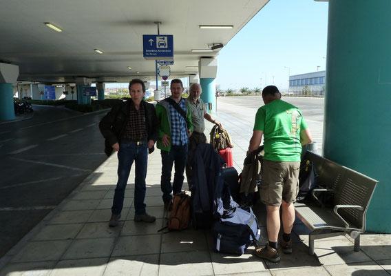 op vliegveld Athene
