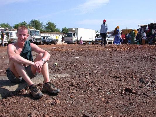 Dave wachtend voor de Ferry