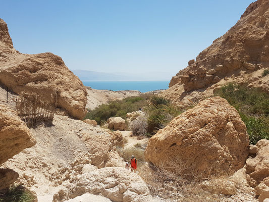 Uitzicht op de Dode Zee