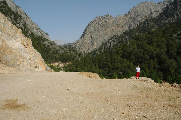 Bhartie met op achtergrond bergen Bay Daglari