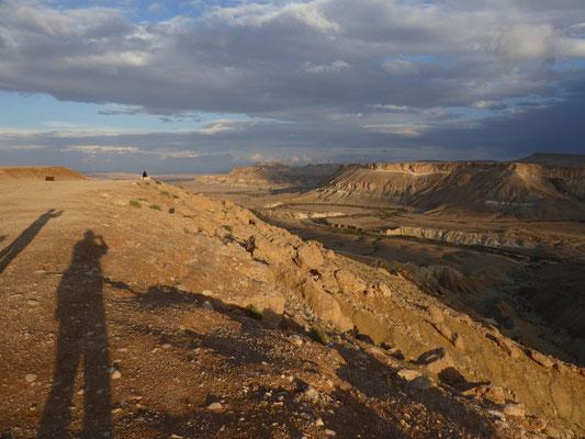 uitzicht op de Negev woestijn, Ein Avdat