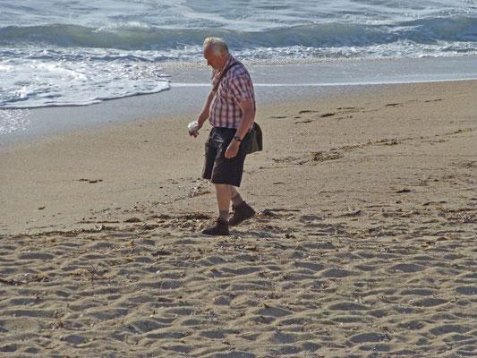 Anton op het strand