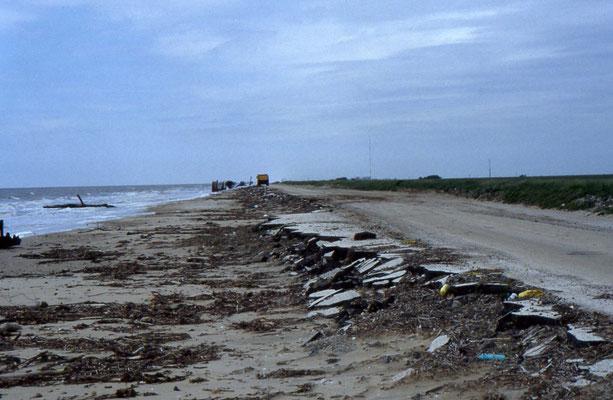 Door orkaan verwoeste Highway