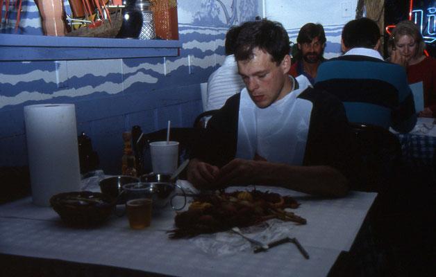 Jan aan aan het zeevoedsel