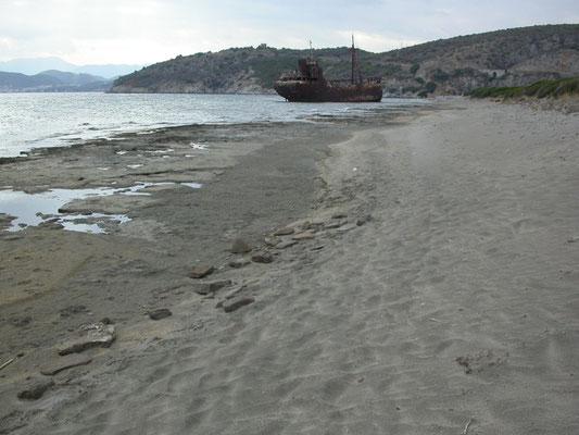kust tussen Trinisa en Gythio