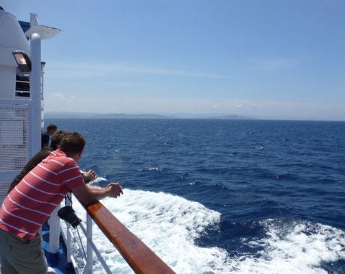 De overtocht naar Sardinië