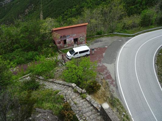 uitzicht vanaf top ruïne