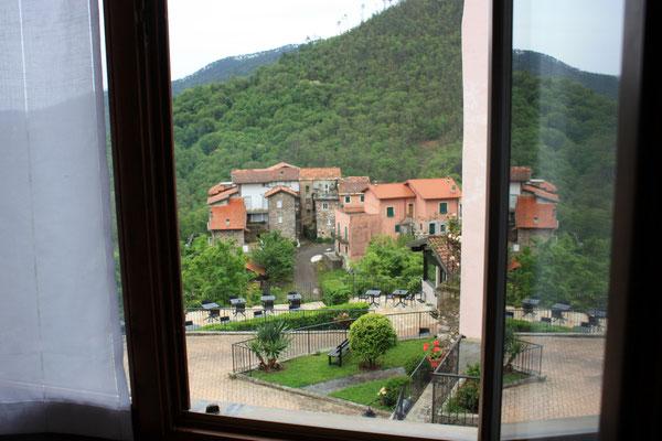 uitzicht vanaf de hotelkamer, foto Ruud