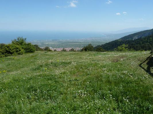 panorama vanaf het klooster