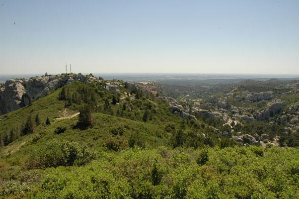 uitzicht vanaf Les Chains des Alpilles