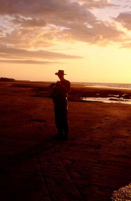 Ron bij zonsondergang