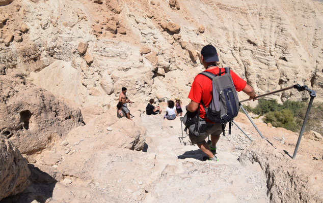 de moeilijk passage op de klim
