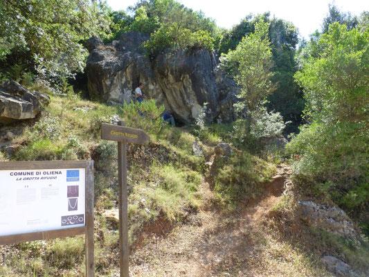 afgesloten grot
