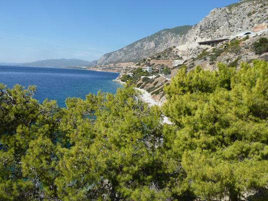 kust richting Athene