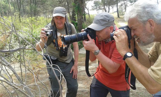 Martin en Marcel fotograreren